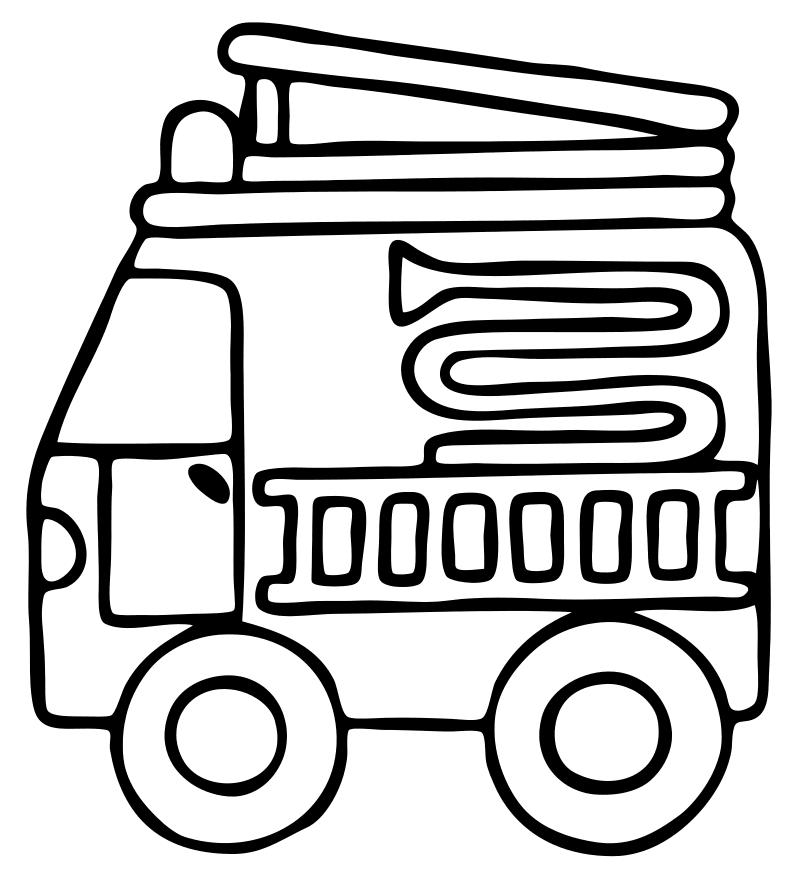 Раскраски для малышей транспорт