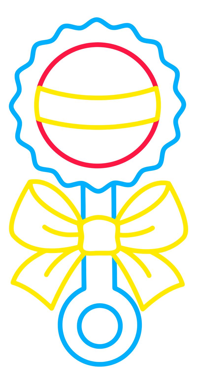 Раскраска - Малышам - Погремушка | MirChild