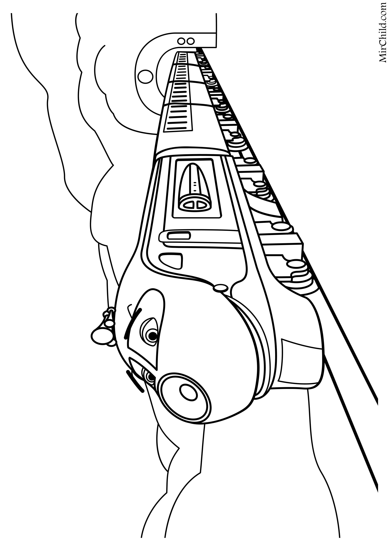 Раскраска - Весёлые паровозики из Чаггингтона - Коко ...